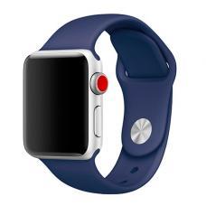 Силиконовый ремешок Sport Band 42мм 44мм для Apple Watch Темно-синий