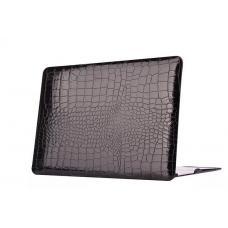 """Чехол Hardshell Case для Macbook Retina 12"""" Черный крокодил"""