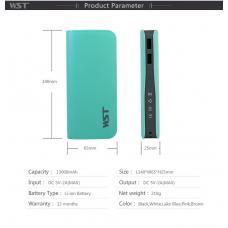 Внешний универсальный аккумулятор DL515 WST 13000 mAh Голубой