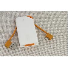 Внешний универсальный аккумулятор Lightning Mah U3 WST 1200 mAh Белый