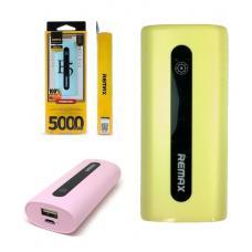 Внешний универсальный аккумулятор Remax E5 Series 5000 mAh Розовый