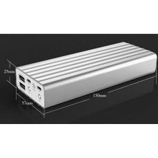 Внешний универсальный аккумулятор Remax Vangurad Series 20000 mAh Серебристый