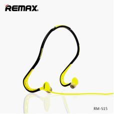 Спортивные наушники Bluetooth Remax Earphone RM-S15 Черный с желтым
