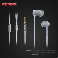 Наушники капельки Remax rm-535i Серебристые
