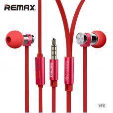 Наушники капельки Remax rm-565i Красного цвета
