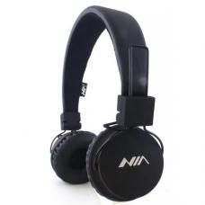 Наушники Bluetooth NIA-1682S MP3 Черного цвета