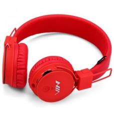 Наушники Bluetooth NIA-1682S MP3 Красного цвета