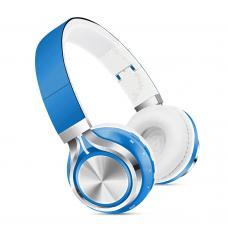 Наушники Bluetooth SK-01 Голубого цвета