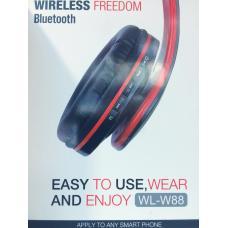 Наушники Bluetooth W88 Черно-красного цвета