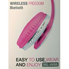 Наушники Bluetooth W88 Розового цвета