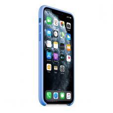 Силиконовый чехол Silicon Case для iPhone 11 Pro Max Голубого цвета