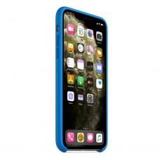 Силиконовый чехол Silicon Case для iPhone 11 Синего цвета
