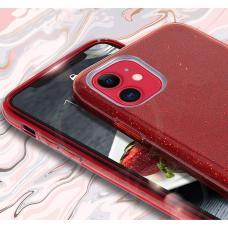 Силиконовый чехол Sparkle Case для iPhone 11 Pro Max Алого цвета