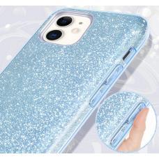 Силиконовый чехол Sparkle Case для iPhone 11 Pro Max Голубого цвета