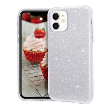 Силиконовый чехол Sparkle Case для iPhone 11 Pro Max Серебряного цвета