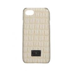 Чехол из эко-кожи под крокодила Puloka Polo для iPhone 5, 5s, SE Бежевый