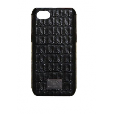 Чехол из эко-кожи под крокодила Puloka Polo для iPhone 5, 5s, SE Черный
