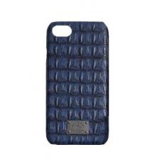 Чехол из эко-кожи под крокодила Puloka Polo для iPhone 5, 5s, SE Синий