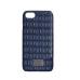 Чехол из эко-кожи под крокодила Puloka Polo для iPhone 5, 5s, SE Синего цвета