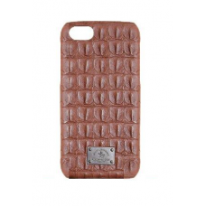 Чехол из эко-кожи под крокодила Puloka Polo для iPhone 5, 5s, SE Коричневый