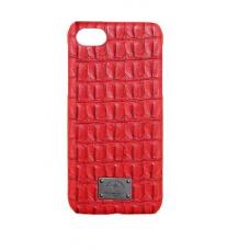 Чехол из эко-кожи под крокодила Puloka Polo для iPhone 5, 5s, SE Красный
