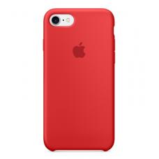Силиконовый чехол Apple Silicon Case на iPhone 5, 5s, SE красный
