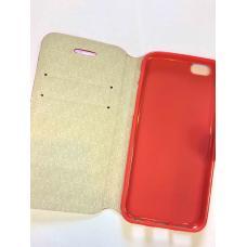 Книжка чехол LGD с отсеками для карт на iPhone 6, 6s Красный