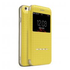 Книжка чехол Totu Lattice для iPhone 6, 6s Желтого цвета
