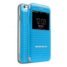 Книжка чехол Totu Lattice для iPhone 6, 6s Синего цвета