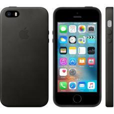Кожаный черный чехол Leather Case для iPhone 6, 6s
