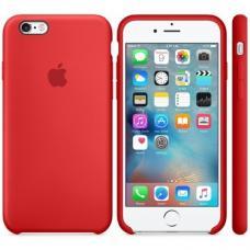 Силиконовый чехол Apple Silicon Case на iPhone 6, 6s красный