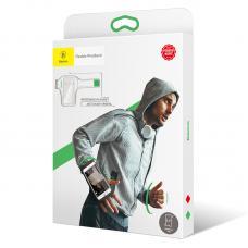 Чехол спортивный на запястье Baseus Flexible Wristband до 5,0 дюйма Baseus, Черный с зеленым