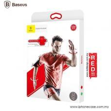 Чехол спортивный на руку Baseus Flexible Wristband до 5,0 дюйма Baseus, Черный с красным