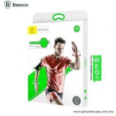 Универсальный спортивный чехол на руку Baseus Flexible Wristband до 5,8 дюйма, Черный с зелёным