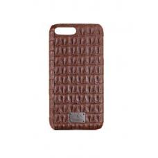Чехол из эко-кожи под крокодила Puloka Polo для iPhone 7 Plus Коричневый
