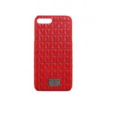 Чехол из эко-кожи под крокодила Puloka Polo для iPhone 7 Plus Красный