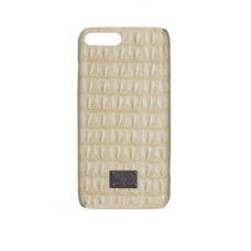 Чехол из эко-кожи под крокодила Puloka Polo для iPhone 7 Plus Молочный