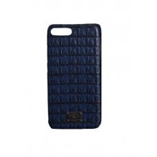 Чехол из эко-кожи под крокодила Puloka Polo для iPhone 7 Plus Синий