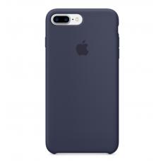 Чехол силиконовый Apple Silicon Case для iPhone 7 Plus Темно-синий