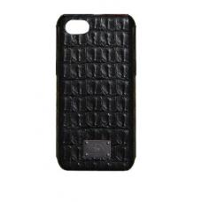 Чехол из эко-кожи под крокодила Puloka Polo для iPhone 7 Черный