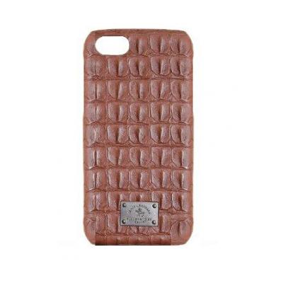 Чехол Puloka Polo из эко-кожи под крокодила для iPhone 7 Коричневый