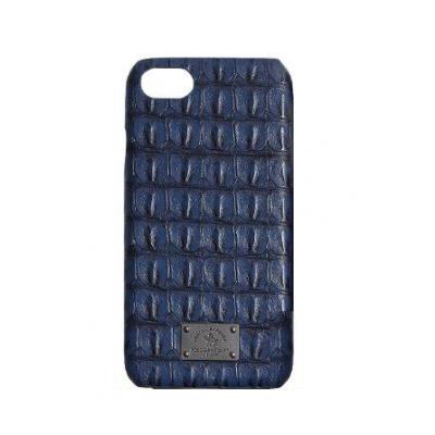 Чехол Puloka Polo из эко-кожи под крокодила для iPhone 7 Синий
