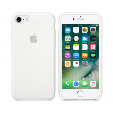 Чехол силиконовый Apple Silicon Case для iPhone 7 Белый