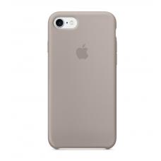Чехол силиконовый Apple Silicon Case для iPhone 8 Светло-серый