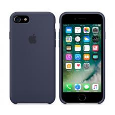 Чехол силиконовый Apple Silicon Case для iPhone 8 Темно-синий