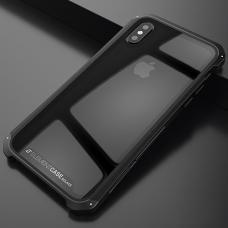 Чехол противоударный Element Case Solace для iPhone X Прозрачный с черным