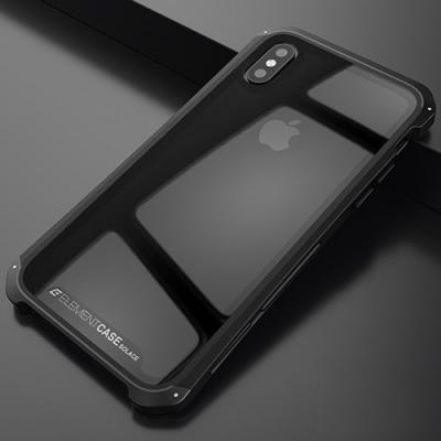Чехол бронированный Element Case Solace для iPhone X / iPhone 10 Прозрачный с черным