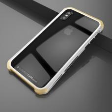 Чехол противоударный Element Case Solace для iPhone X Прозрачный с золотым