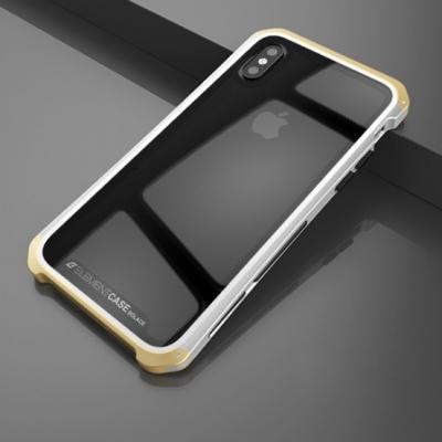 Чехол противоударный Element Case Solace для iPhone XS Max Прозрачный с золотым