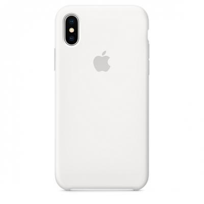 Чехол силиконовый Apple Silicon Case для iPhone X / iPhone 10 Белый